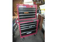 Halfords tool chest 2 parts hold spanners hammers torch garage items