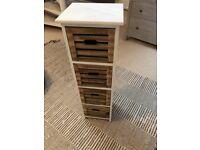 Wood storage chest unit drawers