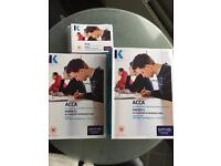 KAPLAN ACCA FOUNDATION LEVEL F1,2,3 COMPLETE TEXTS, EXAM KITS AND POCKET NOTES