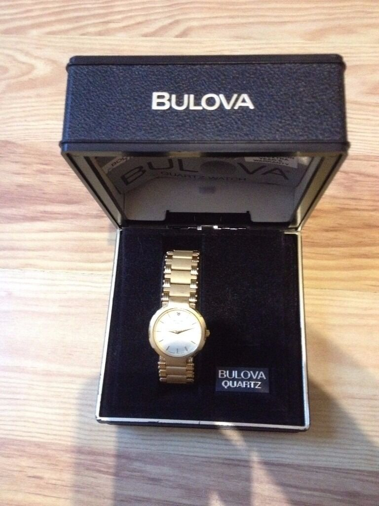 Bulova Quartz Watchmodel 92N79. Roundin Huntingdon, CambridgeshireGumtree - Bulova Quartz Watch – model 92N79. Round. Gold plated & stainless steel back. Supplied with storage casing. Hardly used and in excellent condition