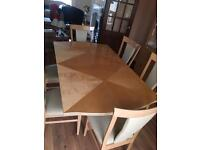Dinning table solid wood made in Italy .. sofa, cabinet, sideboard