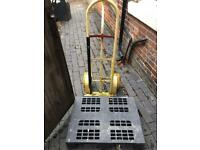 Half pallet and sack truck a
