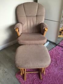 Mamas and Papas Nursing Chair And Stool