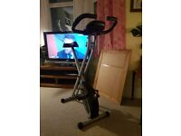 Ultrasport F-Bike, Collapsible Exercise Bike with Training Computer and Hand Pulse Sensors