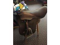 Brown English leather saddle