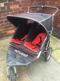 Out n About Double Nipper 360 pushchair