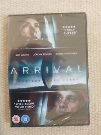 ARRIVAL DVD. New unused unwrapped in cellophane wrapper.