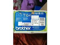 fax machine brother t104