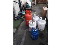 5 EMPTY GAS BOTTLES FOR SALE