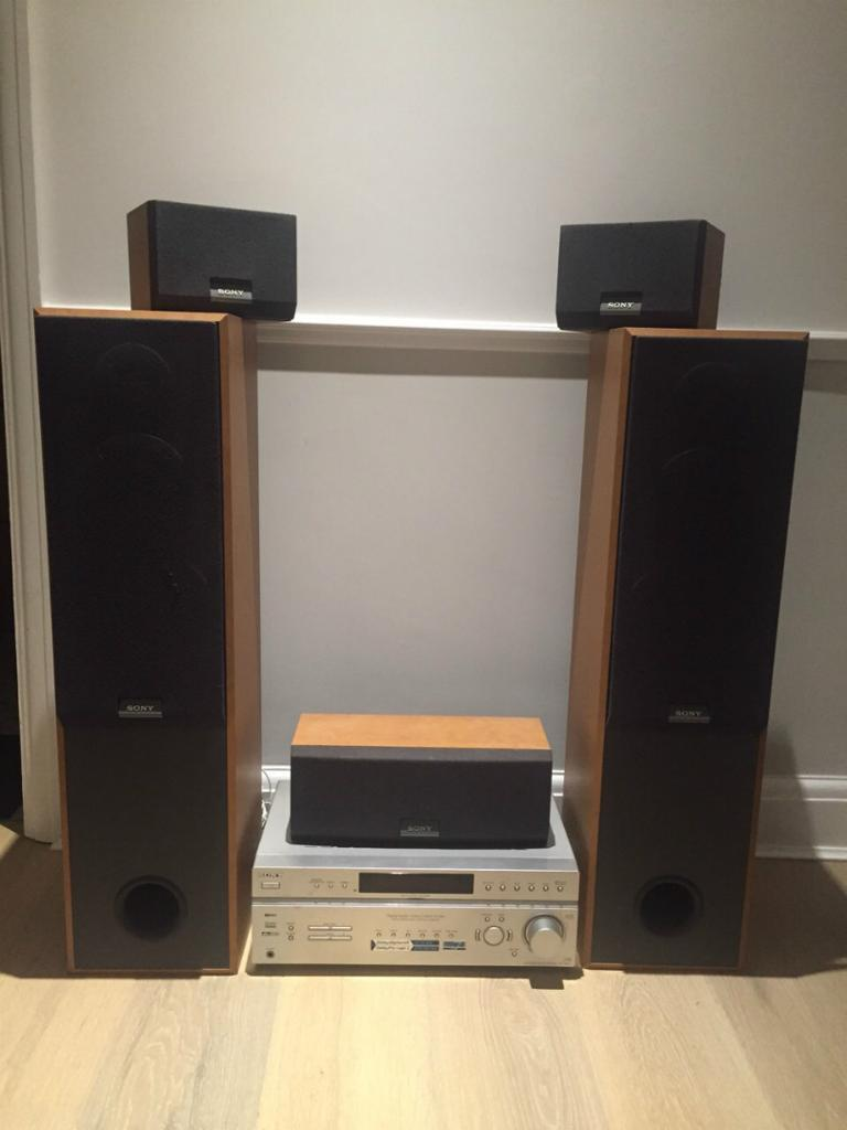 sony surround sound system and 2 buy sale and trade ads. Black Bedroom Furniture Sets. Home Design Ideas