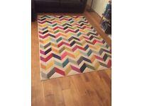 Large multi colour rug