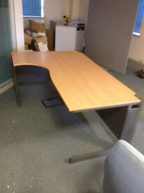 1800MM Curved Desk with Dark Grey Panels