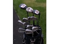 Full set of Hippo Competition golf clubs with taylormade bag