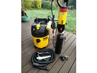 Rems diamond core drill and extraction vacuum