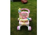 Fisher Price Walker Pram and Fisher Price 1st Baby's Doll