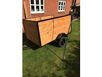 Trailer 6x4 by 33 inch deep excellent condition total refurb on all woodwork
