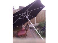 garden umbrella and pedestal