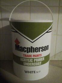 Macpherson White Acrylic Primer Undercoat Paint 5litres