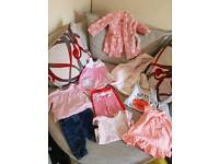 Baby girls clothes 6 - 9