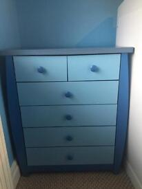 Draws, wardrobe and toy box