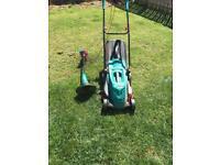 Bosch Rotak 370er lawnmower & strimmer