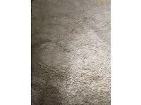 Cream woollen rug