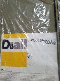 B&Q Diall wood fiberboard underlay 6mm × 13 sheets