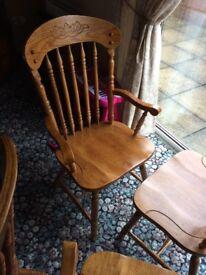 Large extent able oak colour kitchen/ dinning table