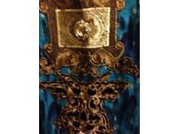 new 8 10 kameez long maxi dress indian pakistani kameez wedding mehndi blue gold vintage asian