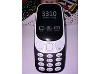 NOKIA 3310 DUAL SIM 2017, BLACK , OPEN TO ALL NETWORKS,HD CAMERA, 5 DAYS STANDBY, FM RADIO, 2.5scr,