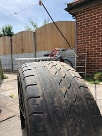 Black 5 Stud 5 X 100 alloy to fit VW Golf VW Beetle Seat Skoda old plates
