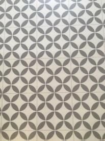 Free vinyl flooring off cut