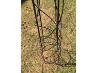Wrought iron tall garden trellis