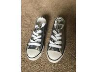 Silver original converse size 3
