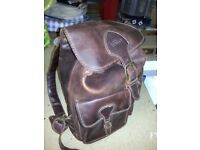 Tan Leather ruck sack