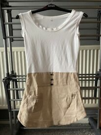 Ladies linen and polyester dress size m (more like 10)