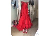 Brand New with tags stunning red prom dress