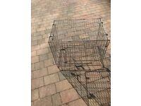 Medium metal foldable dog crate/carrier - 58 x63 x63