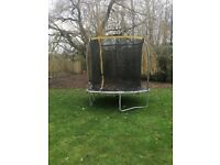8ft trampoline with net enclosure