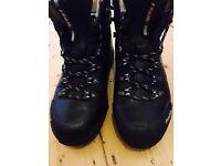 UK 6 BLACK LEATHER MOUNTAIN TRAIL GORETEX RAICHLE/MAMMUT HIKING & WALKING BOOTS