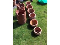 Terracotta and Plastic Garden Pots