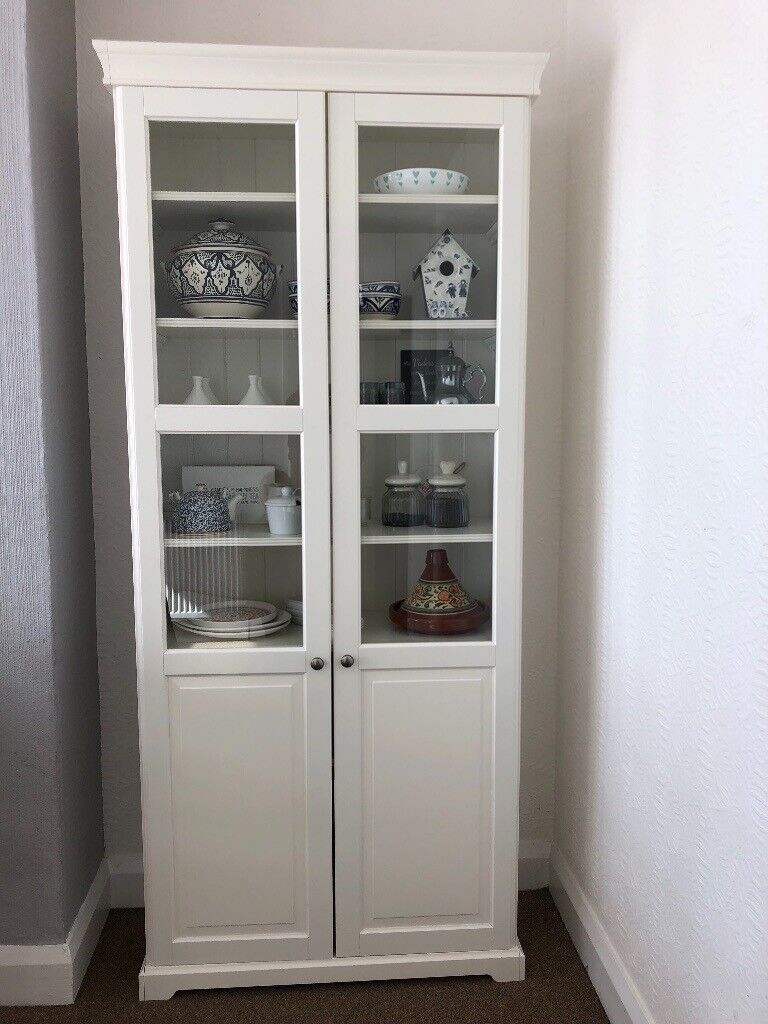 Brilliant Ikea Liatorp Bookcase With Glass Doors Display Cabinet In Leicester Leicestershire Gumtree Home Interior And Landscaping Eliaenasavecom