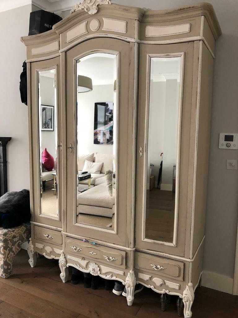 Stunning Large Antique French Louis Xv 3 Door Armoire Wardrobe