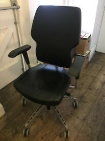 Black office desk chair for sale, used and no longer needed