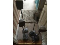 Get them now!!! 4 Speaker stands- adjustable height - £15. Collection only.