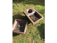 Ceramic drain covers