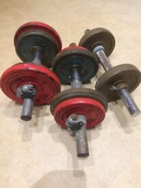 Cast iron weights 20kg in total