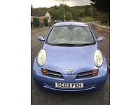 Nissan micra 1.4 SE. 2003. New shape 5 Doors. Low mileage with service history.