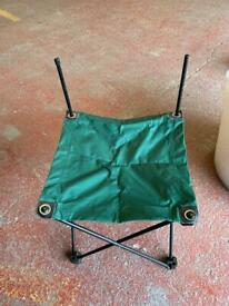 Green camping stool table