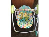Baby's swing chair
